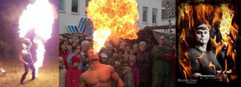Mittelalter-Feuershow mittelalterliche Feuershow